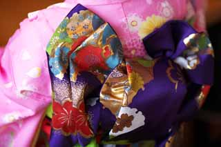photo,material,free,landscape,picture,stock photo,Creative Commons,Shichi-Go-San strip, Knot, Kimono, Dry, Girl
