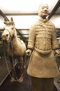 photo,material,free,landscape,picture,stock photo,Creative Commons,Army cavalry horse, Terra Cotta Warriors, Ancient people, Tomb, World Heritage