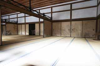 photo,material,free,landscape,picture,stock photo,Creative Commons,Japanese style room  in The Temple of the Peaceful Dragon, World Heritage, Sliding Door, Tatami, Muromachi Shogunate