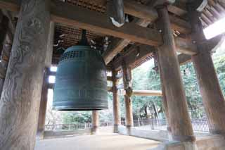 photo,material,free,landscape,picture,stock photo,Creative Commons,Chionin Institute large bell tower, Buddhism, HOUNEN, Hanging bell, Zen temple