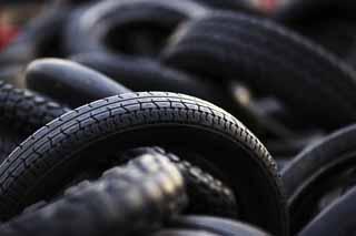 photo,material,free,landscape,picture,stock photo,Creative Commons,Waste tire, Industrial waste, Waste, Rubber, Black