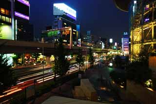 photo,material,free,landscape,picture,stock photo,Creative Commons,Night of Roppongi, Downtown, highway, Neon, Illuminations