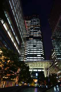 photo,material,free,landscape,picture,stock photo,Creative Commons,The night of the Tokyo midtown, Downtown, high-rise building, Glass, An office building