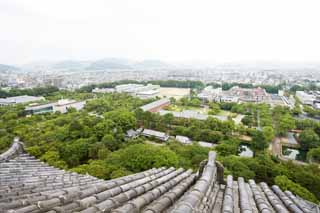 photo,material,free,landscape,picture,stock photo,Creative Commons,The scenery from Himeji-jo Castle, Four national treasures Castle, Sadanori Akamatsu, Shigetaka Kuroda, Hideyoshi Hashiba