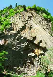 photo,material,free,landscape,picture,stock photo,Creative Commons,Columnar cliff, rock, sky, ,