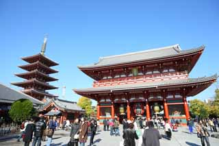 photo,material,free,landscape,picture,stock photo,Creative Commons,Senso-ji Temple Hozo-mon Gate, sightseeing spot, Senso-ji Temple, Asakusa, lantern