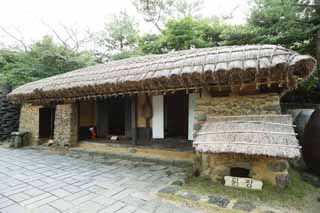 photo,material,free,landscape,picture,stock photo,Creative Commons,A Korean tradition private house, house, door, private house, Traditional culture