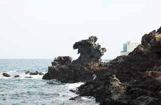 photo,material,free,landscape,picture,stock photo,Creative Commons,Dragon Head Rock (Yongduam), Dragon Head Rock , Yongduam, rocky, shore