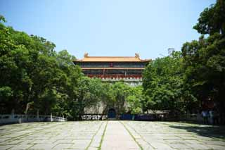 photo,material,free,landscape,picture,stock photo,Creative Commons,Light Ming Xiaoling Mausoleum Castle tower, Tomorrow morning, stone pillar, The first emperor, world heritage
