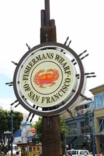 photo,material,free,landscape,picture,stock photo,Creative Commons,Fisherman's Wharf, signboard, crab, town, Sightseeing