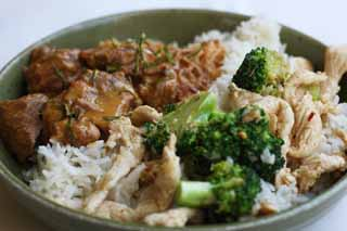 photo,material,free,landscape,picture,stock photo,Creative Commons,A bowl of the meat, broccoli, Beef, Rice, bowl