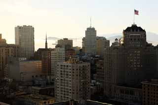 photo,material,free,landscape,picture,stock photo,Creative Commons,The building group of San Francisco, high-rise building, Downtown, residential area, slope