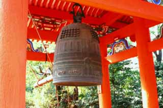 photo,material,free,landscape,picture,stock photo,Creative Commons,Hanging bell, Kiyomizu Temple, bell, ,