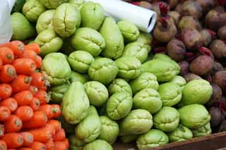 photo,material,free,landscape,picture,stock photo,Creative Commons,A chayote, vegetable store, chayote, Sen Nari gourd, cluster gourd
