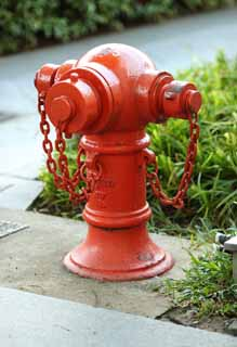 photo,material,free,landscape,picture,stock photo,Creative Commons,A fire hydrant, chain, fire, Fire extinguishing, Firefighting