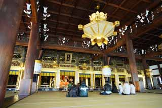 photo,material,free,landscape,picture,stock photo,Creative Commons,West Honganji shrine in which the founder's image is installed in, Honganji, Chaitya, Shinran, wooden building