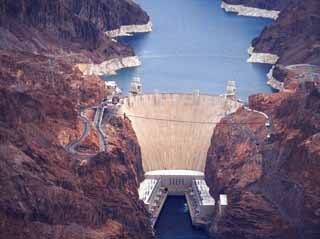 photo,material,free,landscape,picture,stock photo,Creative Commons,Hoover Dam, dam, lake, ,