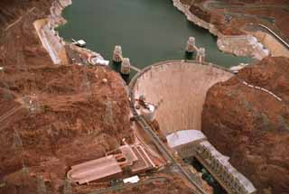 photo,material,free,landscape,picture,stock photo,Creative Commons,Hoover Dam 2, dam, lake, ,