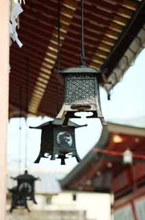photo,material,free,landscape,picture,stock photo,Creative Commons,Fushimi-Inari Taisha Shrine garden lantern, garden lantern, An edge of the eaves, Inari, fox