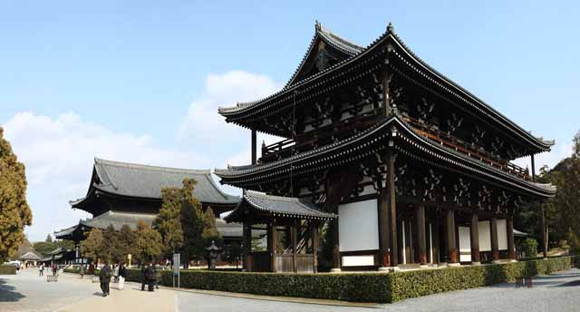 photo,material,free,landscape,picture,stock photo,Creative Commons,Tofuku-ji Temple Mikado, Chaitya, Multilayer case mother appearance of a house, Buddhist image, The double bar exam