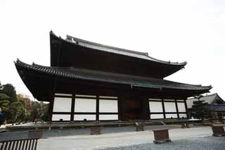 photo,material,free,landscape,picture,stock photo,Creative Commons,The Tofuku-ji Temple main hall of a Buddhist temple, Chaitya, gabled and hipped roof, lean-to,