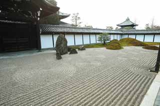 photo,material,free,landscape,picture,stock photo,Creative Commons,Tofuku-ji Temple chief priest front yard of the Hall for state ceremonies, Chaitya, rock, Chinese-style gate, dry landscape Japanese garden garden