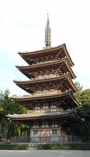 photo,material,free,landscape,picture,stock photo,Creative Commons,Daigo-ji Temple Five Storeyed Pagoda, Chaitya, I am painted in red, two worlds mandala, Japanese esoteric Buddhism picture