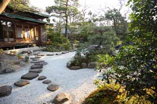 photo,material,free,landscape,picture,stock photo,Creative Commons,Hachiman-gu Shrine, , dry landscape Japanese garden, Japanese garden, The pavement