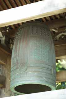 photo,material,free,landscape,picture,stock photo,Creative Commons,Hase-dera Temple temple bell, bell, bell tower, Buddhism, Chaitya