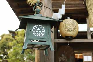 photo,material,free,landscape,picture,stock photo,Creative Commons,Eshima Shrine Okutsu shrine, garden lantern, lantern, , Shinto