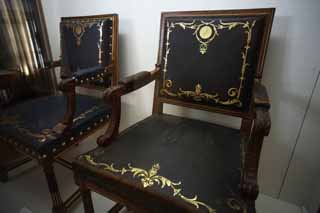 photo,material,free,landscape,picture,stock photo,Creative Commons,The chair of the Meiji-mura Village Museum Imperial Family, The Imperial Family, The Emperor, Western-style furniture, Cultural heritage
