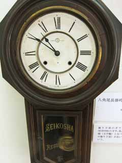 photo,material,free,landscape,picture,stock photo,Creative Commons,Meiji-mura Village Museum wall clock, clockface, needle, curio, Cultural heritage