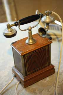 photo,material,free,landscape,picture,stock photo,Creative Commons,Meiji-mura Village Museum telephone, telephone of the Meiji, The Westernization, I put it and talk on the telephone, Cultural heritage