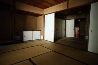 photo,material,free,landscape,picture,stock photo,Creative Commons,A person of Meiji-mura Village Museum east pine house, building of the Meiji, tatami mat, Japanese-style room, sliding paper-door