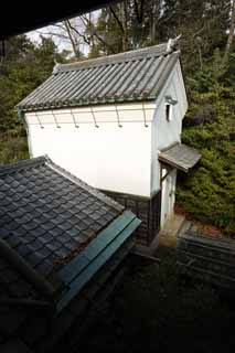 photo,material,free,landscape,picture,stock photo,Creative Commons,A person of Meiji-mura Village Museum east pine house, building of the Meiji, storehouse, The plaster, Japanese-style building