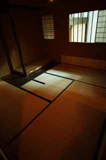 photo,material,free,landscape,picture,stock photo,Creative Commons,A person of Meiji-mura Village Museum east pine house, building of the Meiji, tatami mat, Japanese-style room, tea-ceremony room
