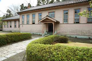 photo,material,free,landscape,picture,stock photo,Creative Commons,The fourth Meiji-mura Village Museum Senior High School physical chemistry classroom, building of the Meiji, The Westernization, Western-style building, Cultural heritage