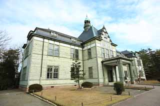 photo,material,free,landscape,picture,stock photo,Creative Commons,Meiji-mura Village Museum Kitasato Inst. main building / medicine building, building of the Meiji, The Westernization, Western-style building, Cultural heritage
