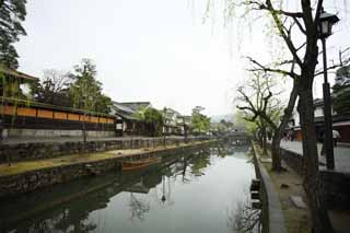 photo,material,free,landscape,picture,stock photo,Creative Commons,Kurashiki Kurashiki River, Traditional culture, willow, Japanese culture, The history