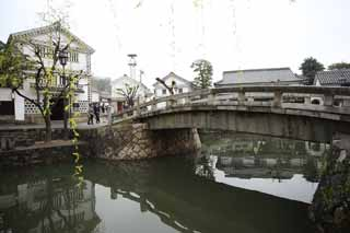 photo,material,free,landscape,picture,stock photo,Creative Commons,Kurashiki Kurashiki River, Traditional culture, stone bridge, Japanese culture, The history