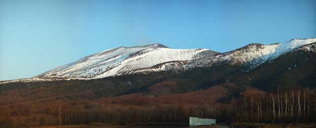 photo,material,free,landscape,picture,stock photo,Creative Commons,Mt. Asama-yama, Snow, volcano, Bave rock, Lava