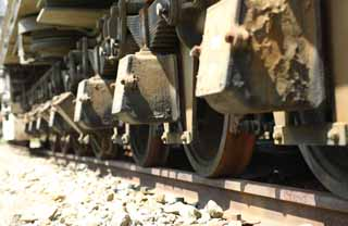 photo,material,free,landscape,picture,stock photo,Creative Commons,Freight car for heavy goods So 300, railroad, Track construction, Diesel, wheel