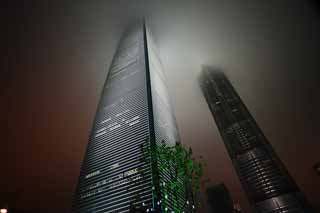 photo,material,free,landscape,picture,stock photo,Creative Commons,The Shanghai round ball finance center (SWFC), high-rise building, cloud, Gas, Mori Building